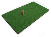 Faswin Green Golf Hitting Mat 30cm x 60cm Residential Practise Hitting Mat with Tee Holder