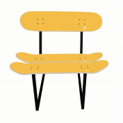 Surprise to a skateboarder with decoration for his bedroom - Skateboard chair Yellow