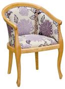Febland Heavy Smooth Tub Chair, Fabric, Brown