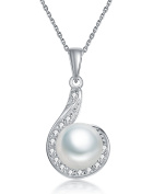 Fei Liu Pearl Flower Collection Fresh Water Pearl and Cubic Zirconia Silver Pendant