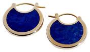 Pamela Love Women's Round Lapis Lazuli Hoop Earrings