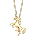 Elli Women Unicorn Magic 925 Sterling Silver Gold Plated Necklace of Length 45cm 0103552317_45