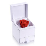 Monther's Day Gift-MARENJA-Jewellery Box with Preserved Rose for Necklace Earring Jewellery Set