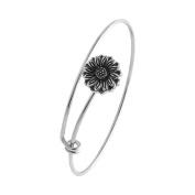 SENFAI Tiny Flower Adjustable Charm Bracelet and Bangle Retro Style