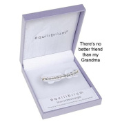 Equilibrium Two Tone Silver Plated Hinged Bangle for Grandma
