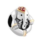 Uniqueen Antique Elephant Thailand Lucky Animal Charms Sale Cheap Beads fit Pandora Charm Bracelet