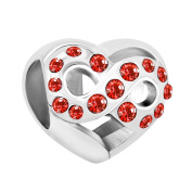Uniqueen Heart Infinity Love Rhinestone Crystal Charms Sale Cheap Beads Fit Pandora Bracelet Gifts