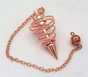 Copper Coated Spiral Coil Pendulum Dowser matching Chain