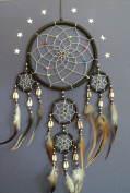 Shell dreamcatcher brown silver web dream catcher