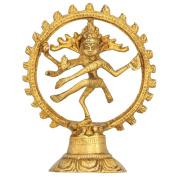 RoyaltyLane Dancing God Shiva Natraj Statue - Handcrafted Brass Figurine Gift Idea - 13 cm x 10 cm x 5 cm