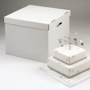 Stacked Cake Box - 36cm /41cm x 41cm