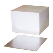 "10"" Cake Box with 3mm 10"" Square Cake Board"