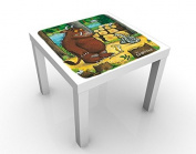 Design Table Gruffalo - Horror Of The Animals 55x55x45cm, Table Colour:White;Dimensions:55 x 55 x 45cm