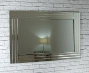 Grace Silver Glass Venetian Framed Rectangle Bevelled Wall Mirror 48in x 32in