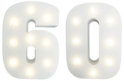 Set of Light-Up Numbers - Number 60 - Age 60 - Great Birthday Anniversary Gift