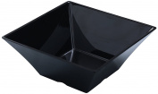 Yanco RM-4109BK Rome Square Bowl, 3.8l Capacity, Melamine, 25cm Length, 25cm Width, 2.5cm Height, Black