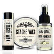 Wild Willies ULTIMATE Stache Wax, Stache Wax Remover and Stache Wax To Go Combo Package! Get A Better Deal When You Purchase The Gift Set!