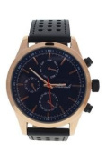 Antoneli Ag0308-05 Rose Gold/black Leather Strap Watch Watch For Men 1 Pc