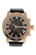 Antoneli Ag1905-03 Rose Gold/black Leather Strap Watch Watch For Men 1 Pc