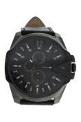 Louis Villiers Lvag8912-8 Black/black Leather Strap Watch Watch For Men 1 Pc