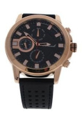 Antoneli Ag0064-03 Rose Gold/black Leather Strap Watch Watch For Men 1 Pc