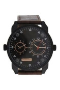 Louis Villiers Ag3736-12 Black/brown Leather Strap Watch Watch For Men 1 Pc