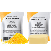 Organic Yellow Beeswax 0.5kg + Organic Shea Butter 0.5kg by Mary Tylor Naturals