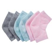 Bememo Soft Ventilate Gel Heel Socks Open Toe Socks for Dry Hard Cracked Skin Moisturising Day Night Care Skin, 3 Pairs