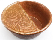 Copper Pedicure Bowl with Removable Food Rest-PED20+FR