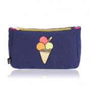 Emma Lomax London Navy Blue Ice Cream Makeup Bag