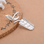 Happy Hours - Fashion Diamante Nail Cover Ring / Alloy Special Unique Fingernail Protective Personal Decoration / Nice Gift for Girlfriend,Ladybro