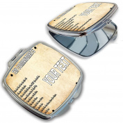 BleuReign(TM) Personalised Bible Series Ten Commandments Licence Plate Compact Mirror