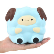 Aolige Jumbo Squishy Kawaii Blue Lamb Cream Scented Slow Rising Decompression Squeeze Toys Children Simulation Cute Sheep Toys