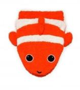 Organic Cotton, Washcloth Mitt Clownfish Puppet, Child Size by Furnis