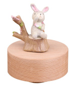 Cute Rabbit Mechanical Classical Collectible Music Box, Plays Castle in the Sky