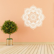 Vibola Mandala Vinyl Wall Decal Yoga Sticker Lotus Large Pattern Ornament Indian Mural Home Decor