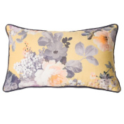 Battilo Single-sided Floral Printed Stuffed Throw Pillow Cotton Insert Filling Filled Cushion Pattern Zipper For Festival Christmas Xmas Decorative