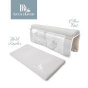 Premium Bath Kneeler and Elbow Rest, Knee Pad and Elbow Support for Bathtub