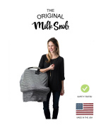 "AS SEEN ON SHARK TANK The Original Milk Snob Infant Car Seat Cover and Nursing Cover Multi-Use 360° Coverage Breathable Stretchy ""Wee Stripe"""