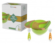 MASH AND SERVE BOWL SET - with Bonus Fork and Spoon   Make Your Own Homemade Baby Food   Fresh Food Baby Feeding   BPA Free