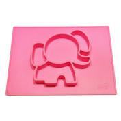 EllieMat by EllieTek Baby Silicone Mini Suction Placemat plate