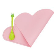 Childrens Placemats- Silicone Tiny Diner Portable Roll Up, Reusable Non Slip Washable Placemat for Kids/Baby high chair