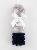 Baby Laundry Patterned Baby Blanket for Boys Girls - Grey Dandelion/Navy Tile Cuddle