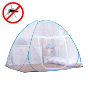 Candora Pop Up Mosquito Nets for Bed,Free Installation Folding Nets Tent Canopy Curtains for Home Bedroom Babies Toddlers Kids Adult Travel Prevent Dengue