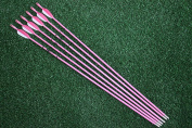 Fibreglass Archery Target Arrows 70cm Practise Arrows Youth Arrows for Woman or Beginner Recurve Bow