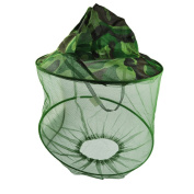 Outdoors Camouflage Anti-mosquito Bee Bug Insect Nylon Mesh Net Hood Fishing Hat Face Protection Mask Cap