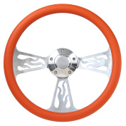 Flame Boat Steering Wheel 36cm Aluminium With Adapter