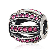 Everbling Leading Lady with Pink Austrian Crystal 925 Sterling Silver Bead Fits Pandora Charm Bracelet
