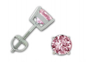 Cherished Moments Girl's Sterling Silver CZ Stud Earrings with Screw Backs