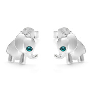 butterfly - Studs for girls 925 sterling silver, original Elements, Elephant turquoise